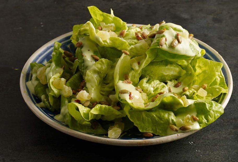 Pati Jinich » Boston Lettuce Salad with Avocado Dressing