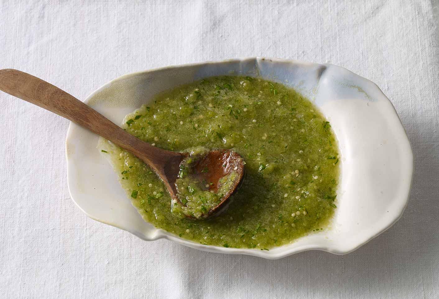 salsa verde or tomatillo salsa