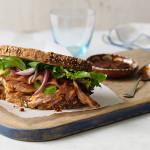Salmon Bacon and Avocado Sandwich