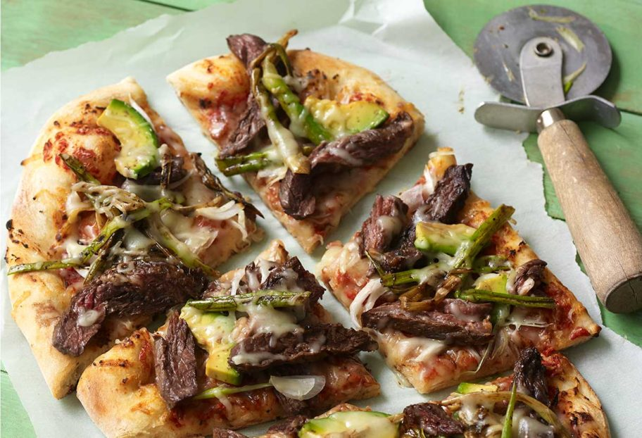 Carne Asada and Cebollitas Pizza