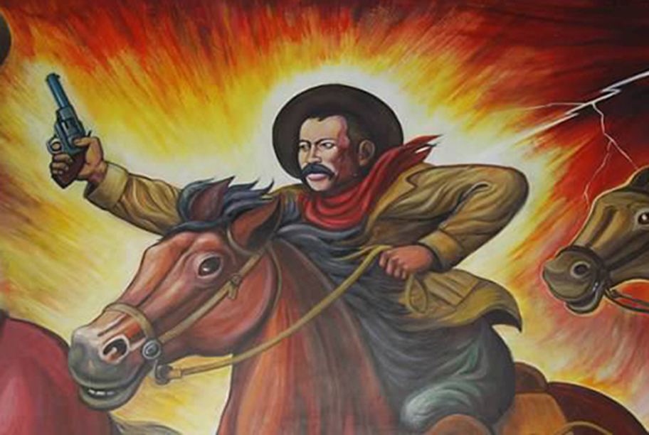painting of Pancho Villa