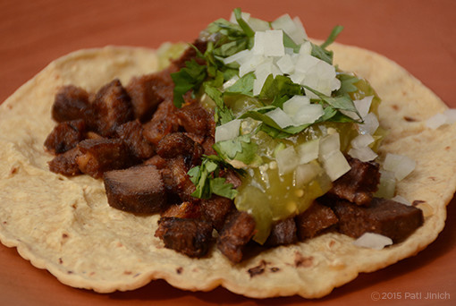 tongue tacos or lengua tacos