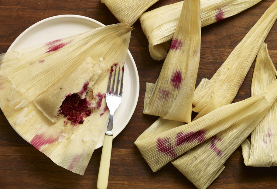 Blackberry and Pecan Tamales