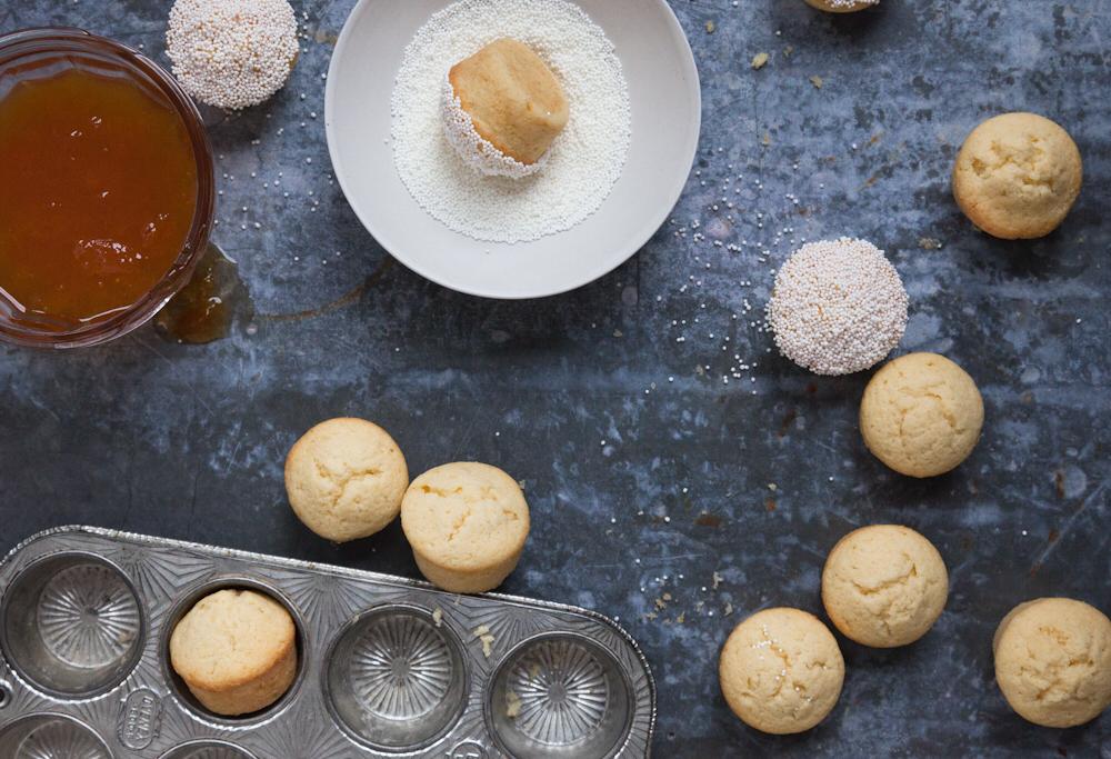 apricot mini pound cakes