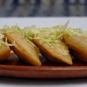 squash blossom quesadillas
