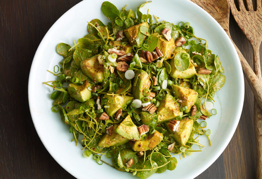 Avocado, Watercress and Pecan Salad