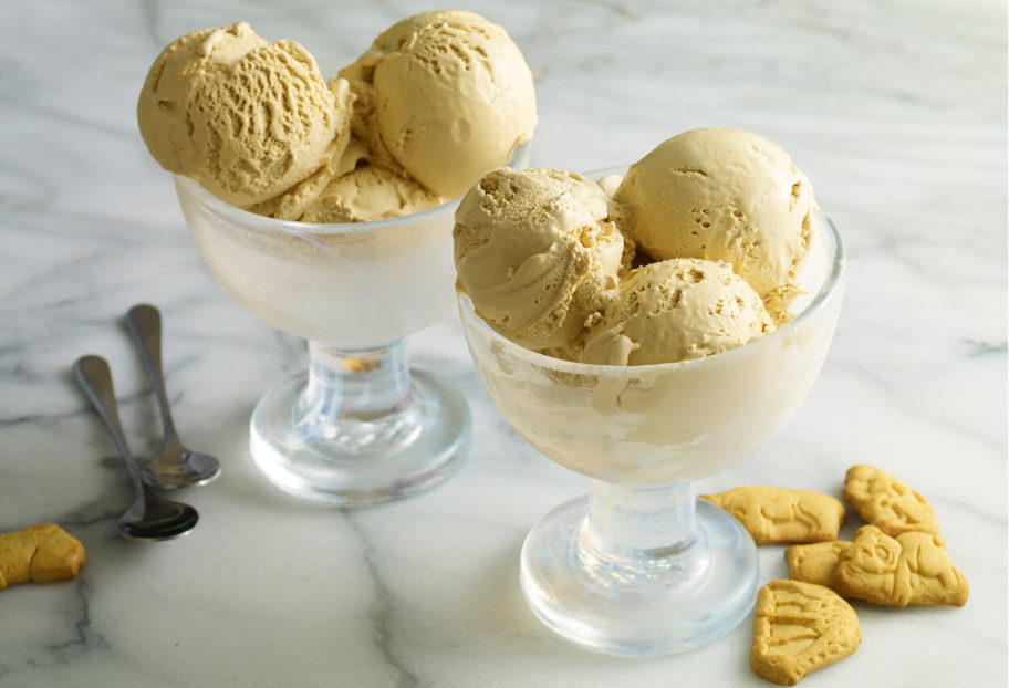 Burnt Milk Ice Cream with Animal Crackers