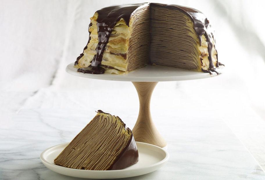 Chocolate Crepe Tower