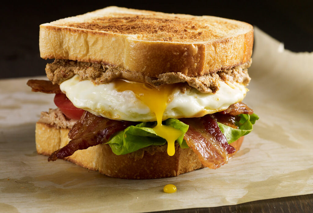 Pati Jinich BLT sandwich with chipotle goat cheese spread