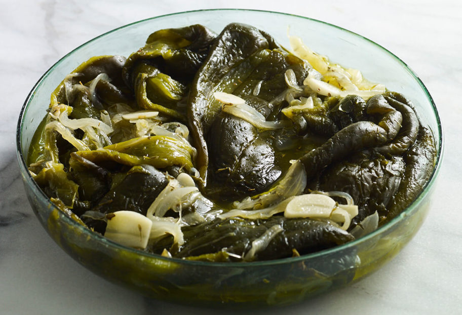 Pickled Poblanos