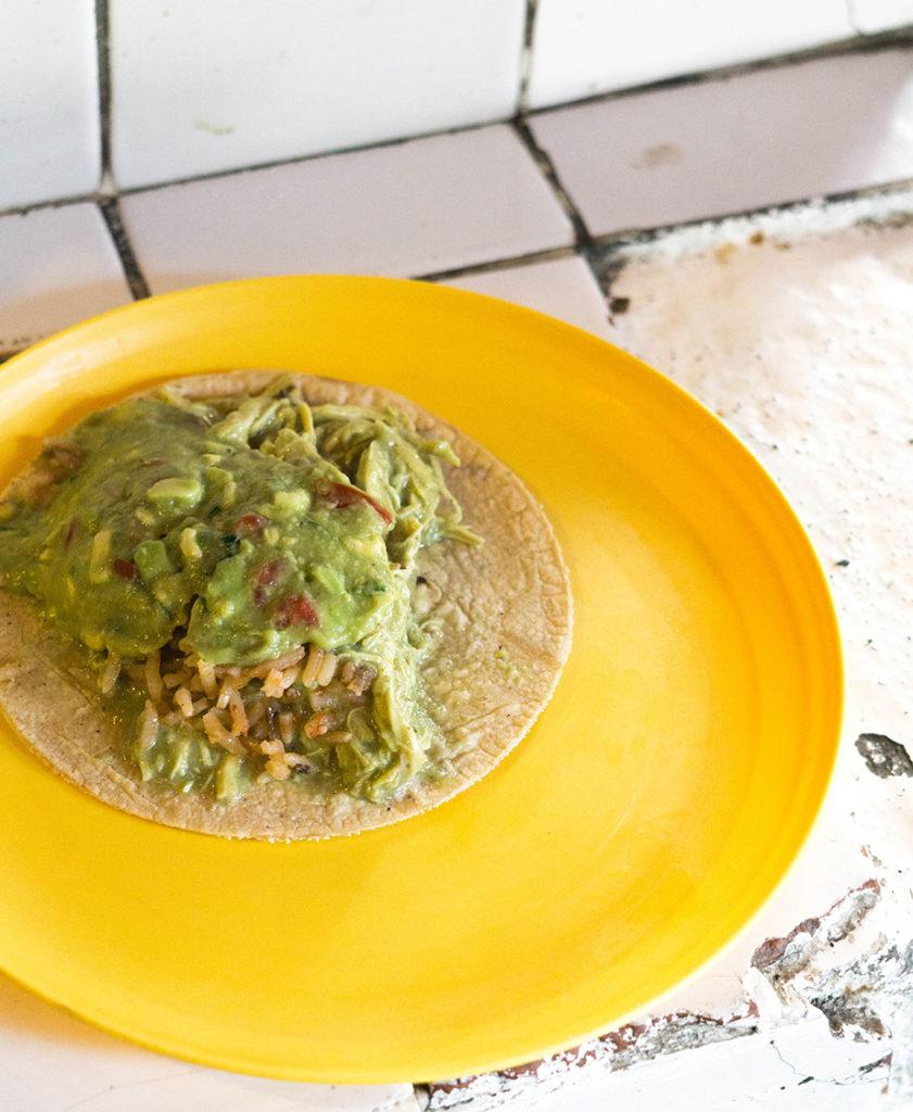Eduardo's favorite taco at Tacos HOLA