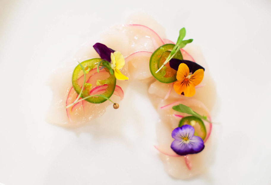 Scallop Aguachile at the James Beard House