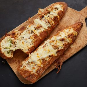 Jalapeño and Garlic Cheesy Bread