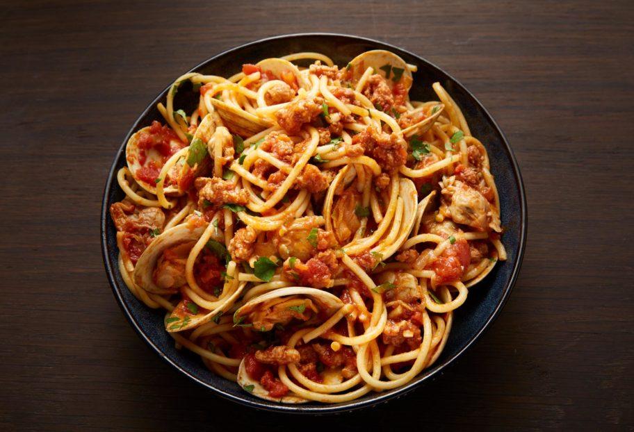 Spicy Clam Chorizo Pasta