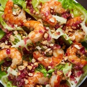 Bibb Lettuce Salad with Grilled Shrimp