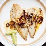Almond, Guajillo and Garlic Flounder