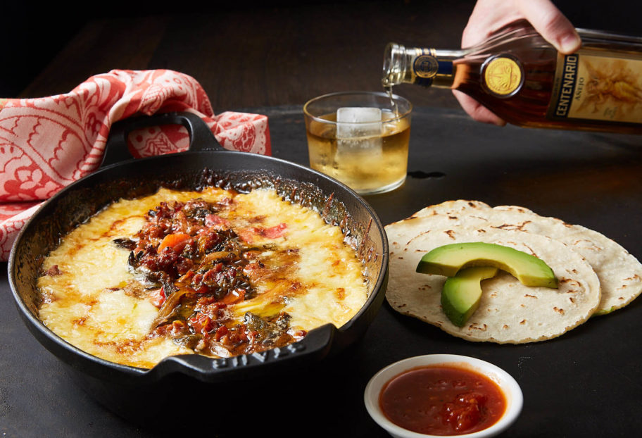 My Favorite Queso Fundido paired with Gran Centenario Añejo Tequila