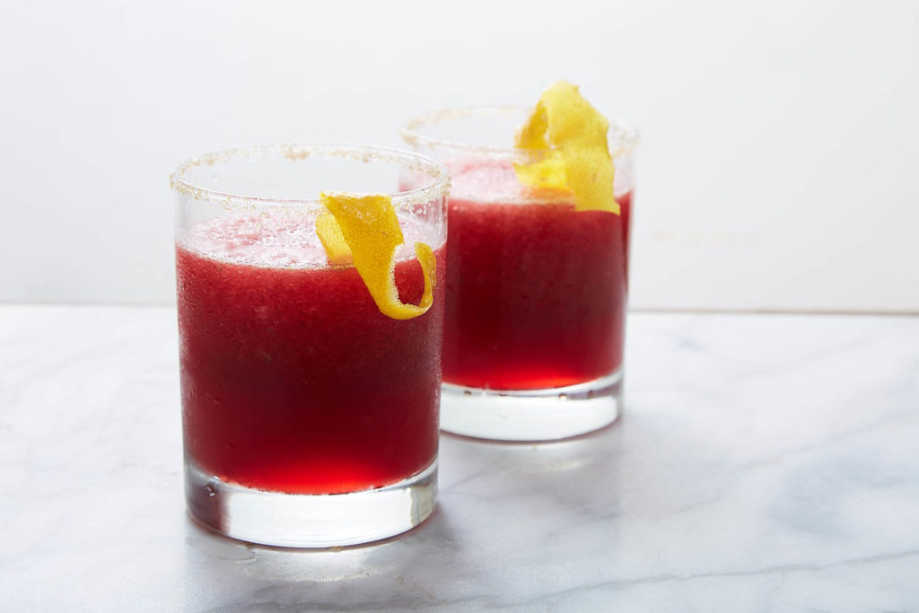 spiced up pomegranate cocktail