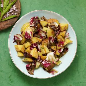 grilled potato and radicchio salad