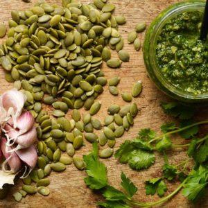 pepita and cilantro pesto