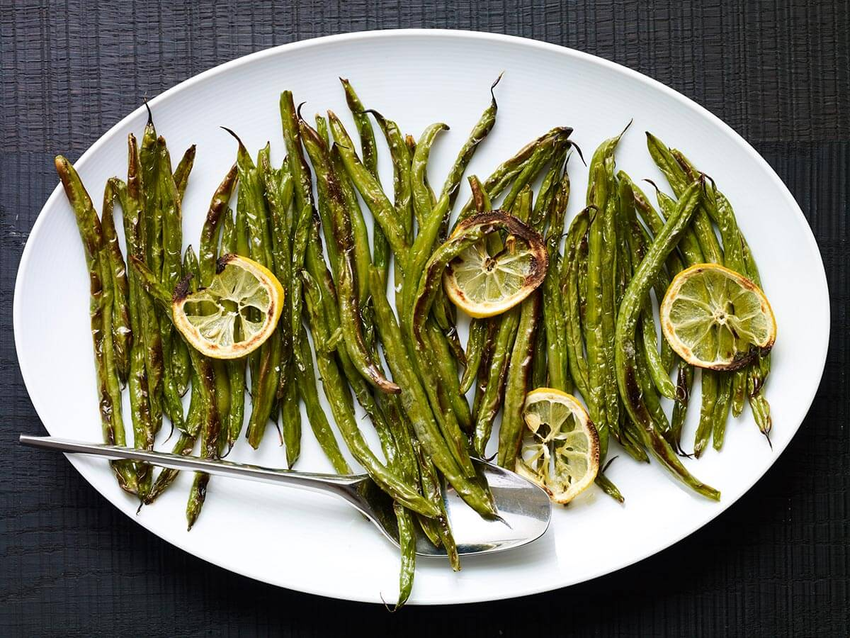 Quick Charred Green Beans
