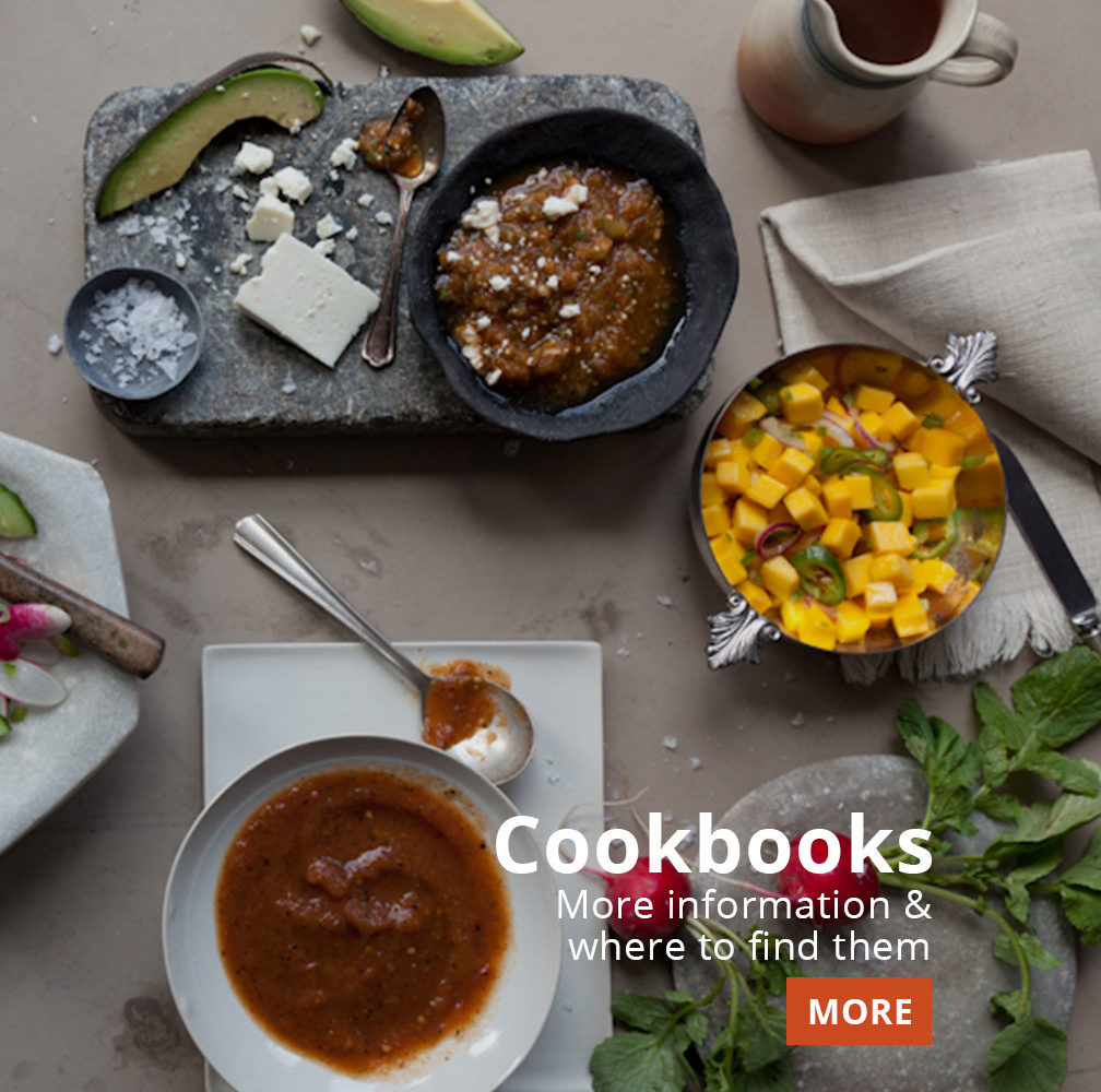 more info and where to find pati jinich's cookbooks