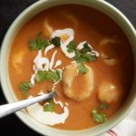 Pinto Bean Soup with Masa and Queso Fresco Dumplings
