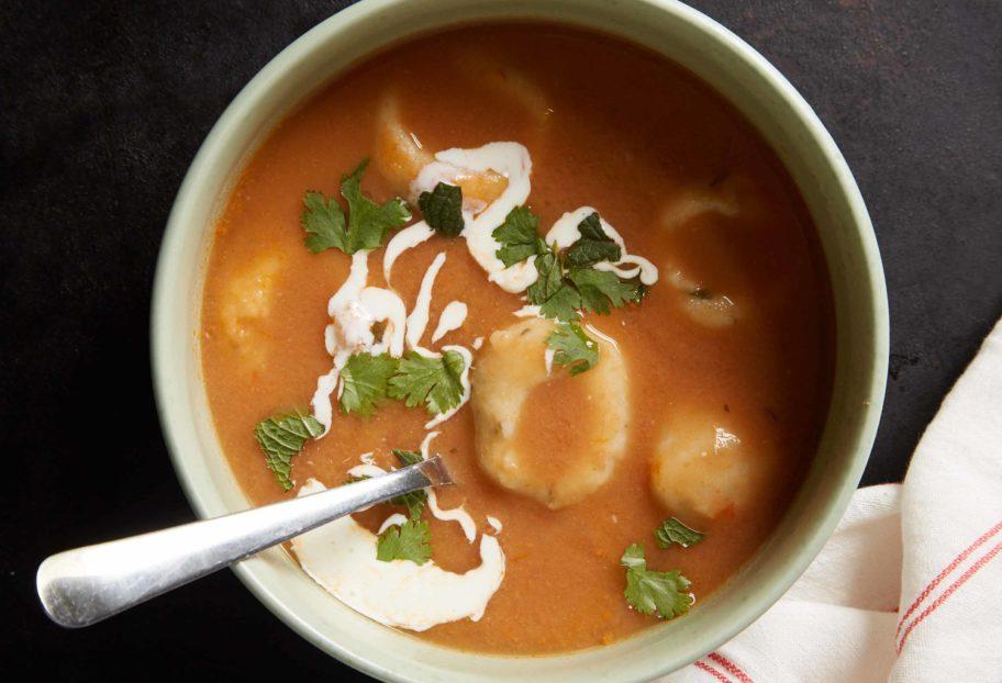 Pinto Bean Soup with Masa and Queso Fresco Dumplings