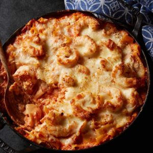 Cheese and Shrimp Pasta Bake