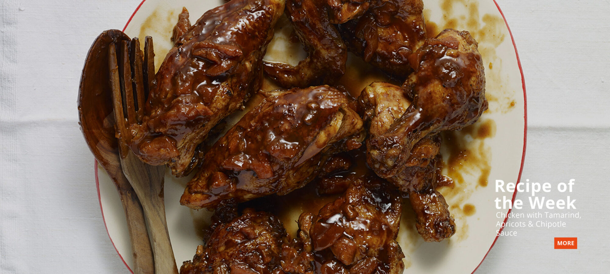 go to Pati's recipe of the week Chicken with Tamarind, Apricots and Chipotle Sauce