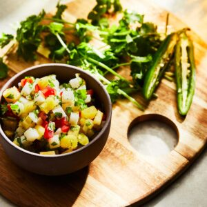 Salsa Bandera with Jicama and Pineapple