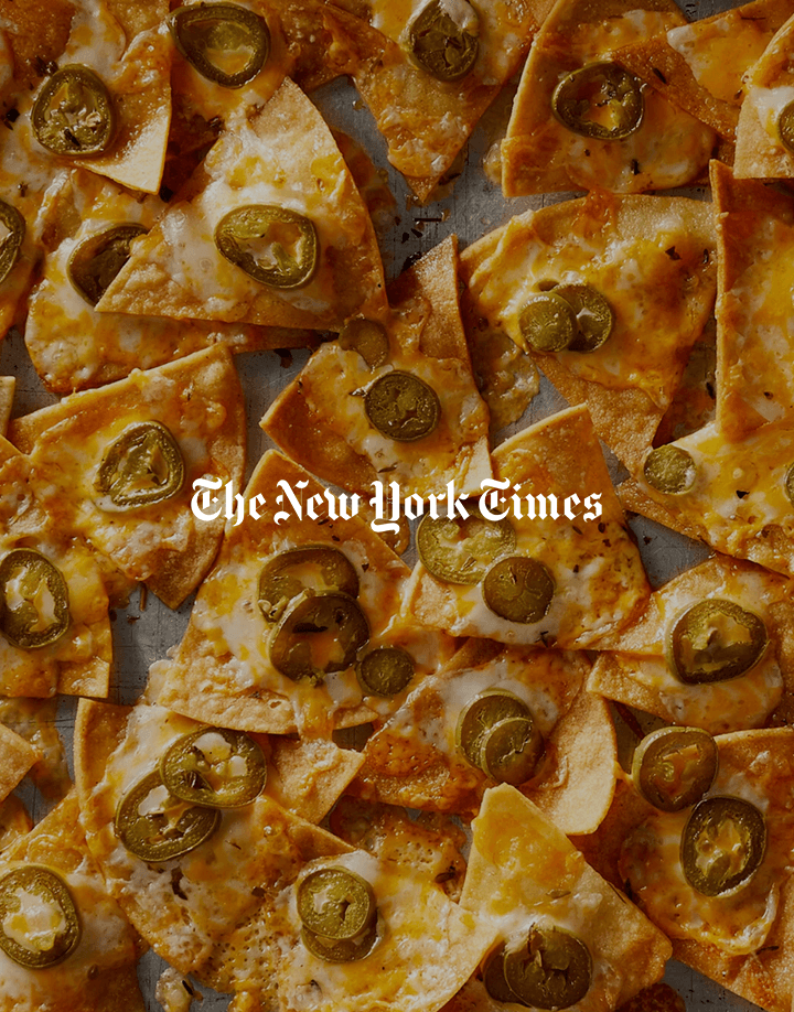 Pati's article on nachos for The New York Times