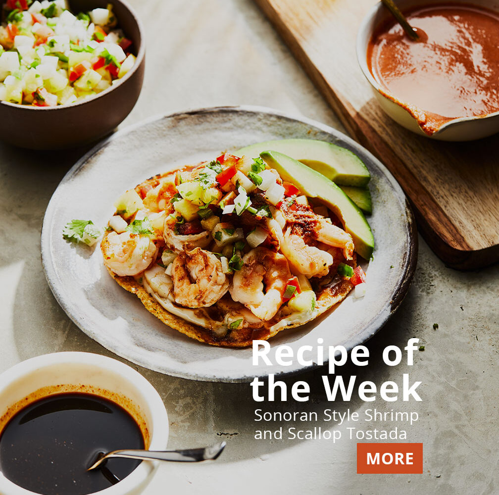 recipe of the week sonoran style shrimp and scallop tostada