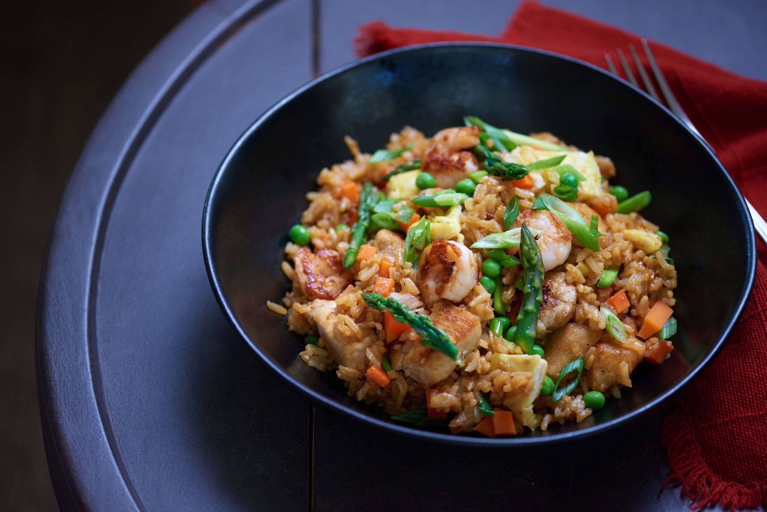 chicken and shrimp fried rice mexicano