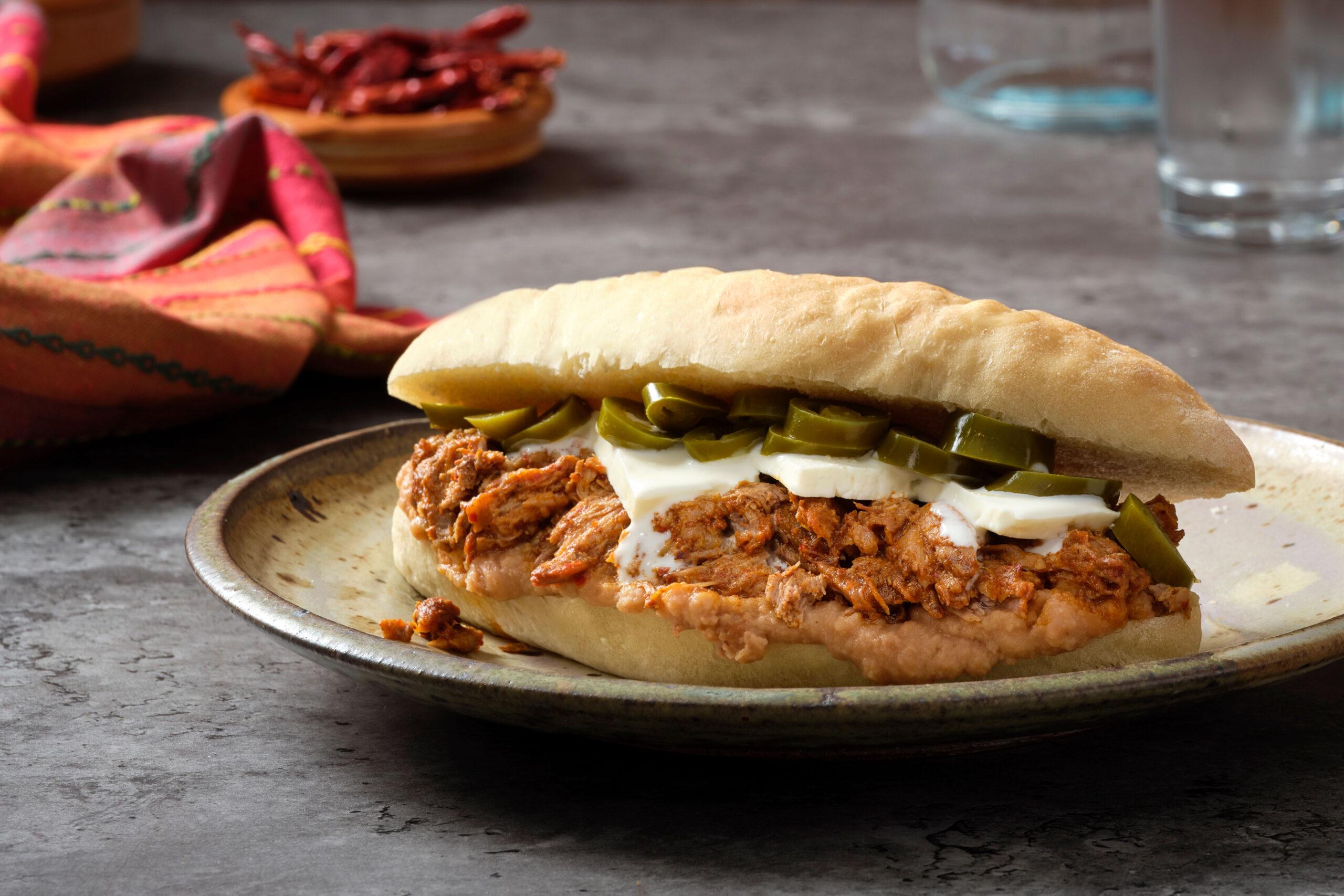 chile charred pork sandwich